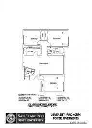 University Floor Plan University Park North Sf State Housing