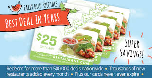 restaurant gift cards half price specials by restaurant 5 25 restaurant gift cards for 19
