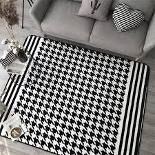 Japanese Area Rug Japanese Korean Houndstooth Carpets For Living Room Home Bedroom
