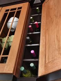 stationary kitchen islands hgtv built in wine storage