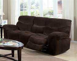 Microfiber Reclining Sofa Chocolate Microfiber Reclining Sofa By Acme 50480