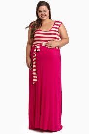 mint striped top sash tie plus size maxi dress
