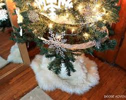 faux fur tree skirt etsy