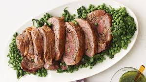 butterflied rolled and roasted leg of lamb