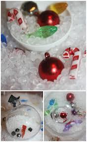 ornament sensory play bins for