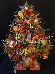 miniature lighted country western tree