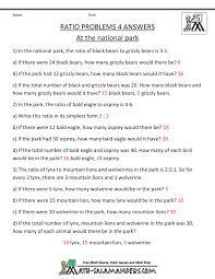 ratio tables worksheets with answers word problems