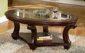 coffee table antique oval coffee table with glass top elegant