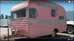 1959 camper vintage retro all original youtube