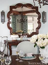 Dining Room Mirrors Decorating With Mirrors Traditional Home