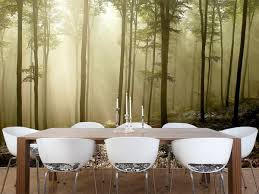 Nature Forest Wall Murals For Zen Dining Room Inspired Wall - Dining room mural