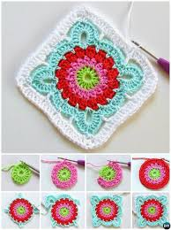 free pattern granny square afghan crochet patroon flower granny square free pattern crochet