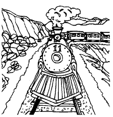 kids fun 26 coloring pages trains