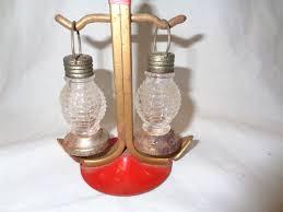 home design vintage hanging railroad lantern salt and pepper