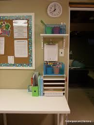 hydrangeas and harmony homeschool room updated