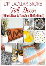 Dollar Store Home Decor Ideas  Thrifty Fall Decor Ideas More - Thrifty home decor