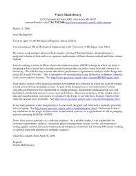 cover letter sample for mechanical engineer resume gallery