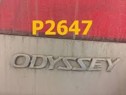 2006 honda odyssey problems honda odyssey code p2647 honda cr v code p2647 p2646