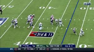 gronk beats everyone for a 33 yard touchdown patriots vs jets