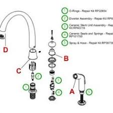 delta kitchen faucet repair instructions cool good moen kitchen faucet parts diagram 96 with additional