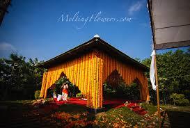 Marriage Decoration Themes - sunshine marigold theme wedding wedding decorations flower