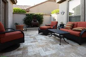 Inexpensive Pavers For Patio by Decor U0026 Tips Beautiful Travertine Pavers For Patio And Garden