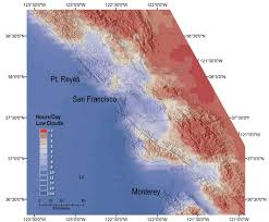 San Francisco Area Map by Fog Frequency Map Responding To Resource Manager Needs Land