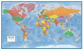map of world map world poster major tourist attractions maps