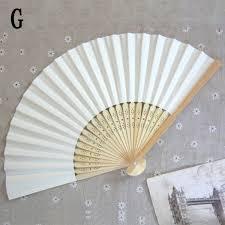bamboo fan summer bamboo folding paper silid fan gift home decor