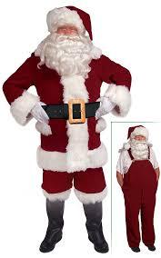 burgundy bib overalls santa suit santa supply