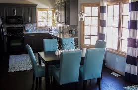 dining room sets michigan a modern dining room with striped curtains marble counter and wood
