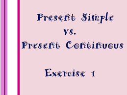 english daily workout present simple vs present continuous