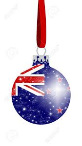 New Zealand Christmas Ornaments Christmas Ball In The Colors Of The Flag Of New Zealand With