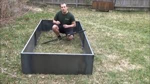 Corten Steel Planter by Nicer 96 And 48 Corten Steel Planter Bed Youtube