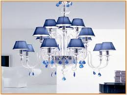 Blue Chandelier Shades Glass Clip On Chandelier Shades Home Design Ideas