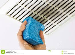 Bathroom Fan Cover Cleaning Bathroom Fan Vent Cover With Sponge Royalty Free Stock