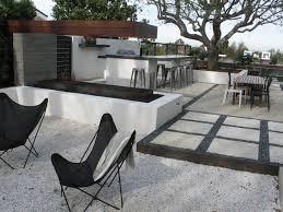 delectable concrete backyard design on home interior sofa ideas