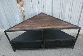 Unit Tv Combine 9 Industrial Furniture U2013 Vintage Style Corner Unit Tv Stand