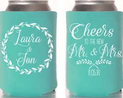 wedding personalized koozies wedding party goods favors can coolers cups by mailboxhappiness