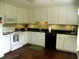 appealing kitchen colors with white cabinets and black countertops