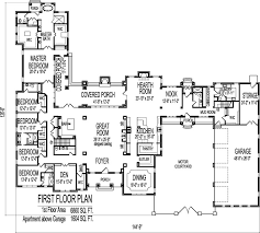 big home plans 8000 square foot house floor plans large 6 six bedroom single story