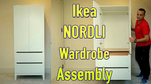 Nordli Bed Ikea Review by Ikea Wardrobe Nordli White Assembly Youtube