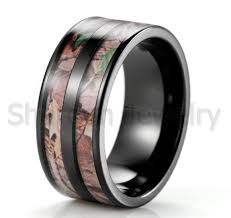 camo mens wedding bands new 2016 black barrel camo ring titanium realtree ap