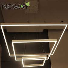 Led Pendant Lights Chandelier Square Modern Hotel Suspended Led Pendant