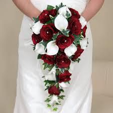 artificial wedding flowers artificial silk wedding flowers a shower bouquet of burgundy
