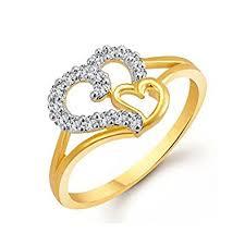 rings images buy meenaz jewellery heart wedding fancy party wear gold