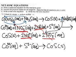krista u0027s net ionic equation science showme