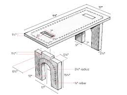 Plans For Building A Picnic Table With Separate Benches by Build This Beautiful Concrete Bench