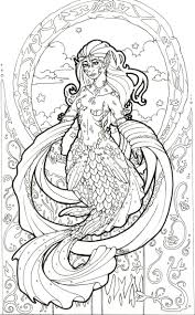 273 best mermaid coloring pages for adults images on pinterest