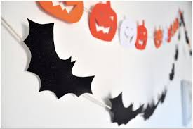 halloween decorations budget creepy pumpkins u0026 bats wall garland